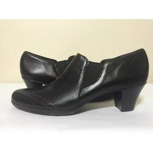 Munro American Black Kid Leather Women's Heels